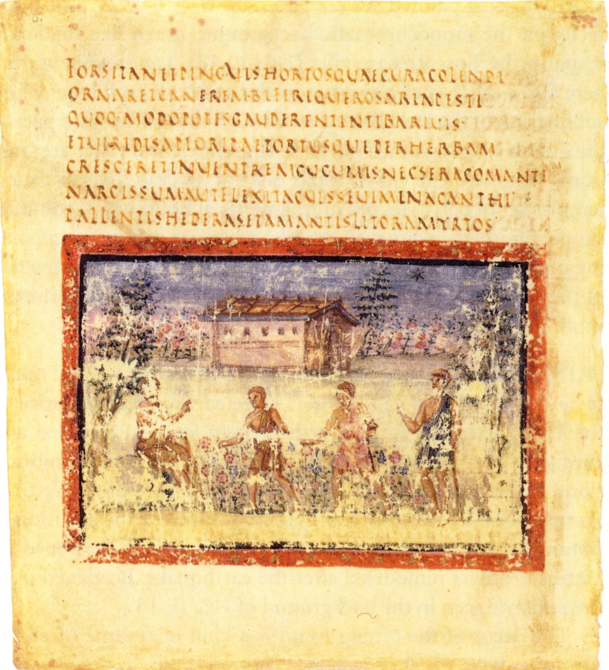 Folio 7 verso du Virgile romain